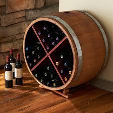 image of wall mounted wine barrel wine rack designs