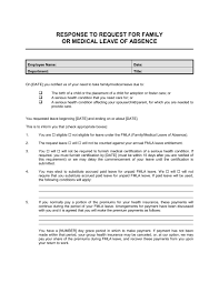 Request Letter For Sick Leave Response To Employee Request For Family Or Medical Leave