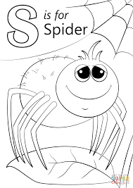 Small Picture Letter S is for Spider coloring page Free Printable Coloring Pages
