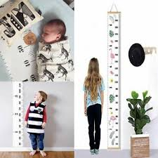 Details About Wooden Kids Growth Chart Children Arrow Wall Hanging Height Measure Ruler Us