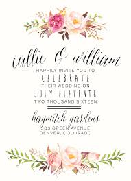 best 25 printable wedding invitations ideas on pinterest Pink And Green Wedding Invitation Templates watercolor floral wedding invitation by splashofsilver rustic, boho chic beautiful for Printable Wedding Invitation Templates
