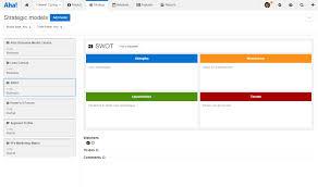 Swot Model Create A Swot Analysis Strategic Model Aha Support