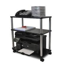 Rolling Computer Desk Cart Small Spaces Work Desk Printer Table Storage
