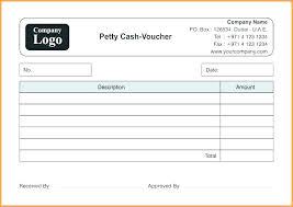 Cash Receipt Voucher Word Format Petty Invoice Template Excel Filler