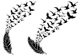 flying birds tattoo clipart.  Flying Feathers With Free Flying Birds Vector Illustration For A Wall Tattoo  Stock Vector  45223989 Inside Flying Birds Tattoo Clipart