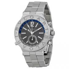 top 10 bvlgari watches reviews finding the best for you bvlgari diagono professional gmt grey dial automatic mens watch dg40c14ssdgmt