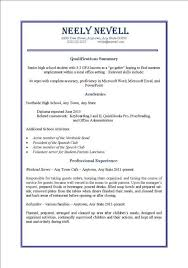 Resume Examples For Teenagers First Job Examples Of Resumes