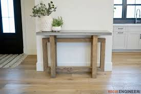 concrete top console table rogue engineer