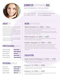 Trendy Modern Resume 4 The Best Cv Resume Templates 50 Examples