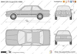 The-Blueprints.com - Vector Drawing - BMW 325i Coupe E30