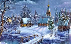 christmas town wallpaper. Interesting Christmas Snowy Christmas Town  ECRG Inside Wallpaper