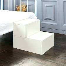 wooden dog steps for bed pet stairs cat ramp foam white dogs pl
