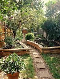raised beds lining walkway