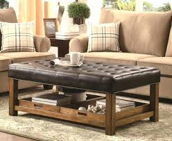 square leather coffee table medium size of how to choose ottoman coffee table modern tufted leather
