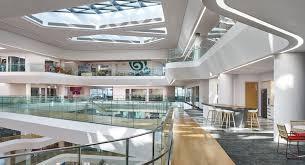 natural light office. Aedas, Unilever HQ, Office Building, Jakarta, Indonesia, Green Architecture, Aluminium Natural Light
