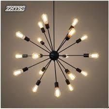 creative lighting fixtures.  Lighting Satellite Iron Chandelier Black Paint Retro Minimalist Living Room Dining  Modern Creative Lighting Fixtures To Lighting Fixtures N