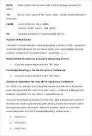 Disciplinary Forms For Employees Free Discipline Letter Template Redstavern Info