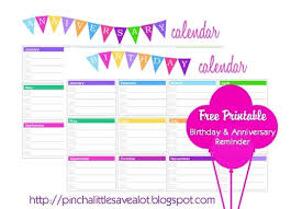 Birthday Anniversary Calendar Birthday And Anniversary Calendar Organization Printables