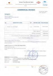Sample Legalized Commercial Invoice Lc