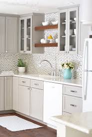 White wood kitchen Two Tone Solid Wood Kitchen Cabinets 21 Ways To Style Gray Kitchen Cabinets