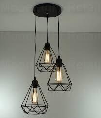 metal cage lamp shade vintage industrial metal cage black cafe loft bar pendant light lamp shade