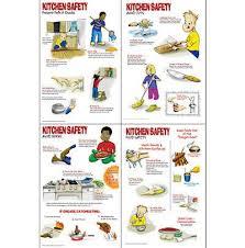 Food Hygiene Poster Kitchen Safety Worksheets Kitchen Safety Poster Set Posters