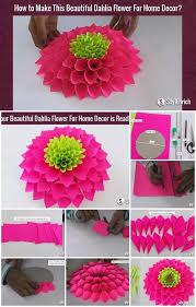 Dahlia Flower Making With Paper Modular Paper Dahlia Flower Tutorial Usefuldiy Com