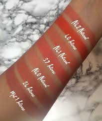 mufe 7 rouge artist lip palette swatches