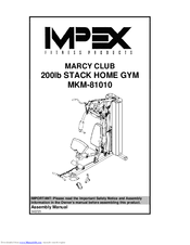 Impex Marcy Club Mkm 81010 Assembly Manual Pdf Download