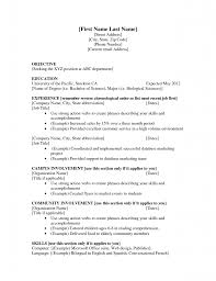 How To Make A Resume For A Teenager Resume Examples For First Job