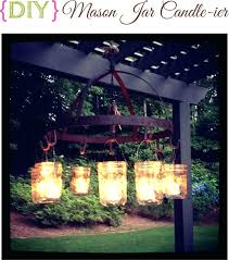 chandeliers outdoor candle chandelier mason jar chandel studio australia