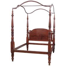 American Federal California King Size Four Poster Bed circa 1820