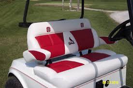 closeup of luxury seat w st louis cardinals logo