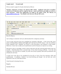 Sample Email To Apply For A Job 7 Job Application Sampel In Word Pdf
