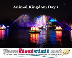 Animal Kingdom Rivers Of Light Dining Package Animal Kingdom Day 1 Disney World Lower Crowd Itinerary