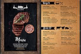 Menu Flyer Template Grill Restaurant Menu Flyer Template Flyer Templates Creative Market 2