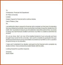 sap appeal letter example sample financial aid appeal letter