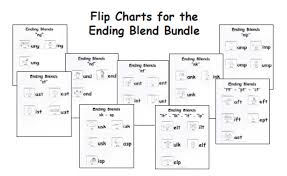 Free Ending Blends Chart Beginning Blends Flip Charts Word Family Readers