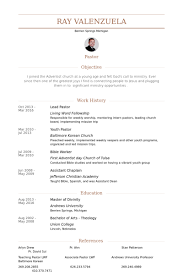 Lead Pastor Resume samples