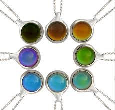 Silver Mood Pendant Mood Necklace Mood Jewelry Color Changing Jewelry Color Changing Pendant Hippie Jewelry
