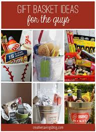 from cing kits to handy man buckets you will love these creative gift basket ideas for him