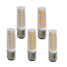 Bqhy Ba15d Double Contact Bayonet Base Led Light Bulbs 110 Volts 5 Watts 500lm Warm White 3000k T3 T4 C7 S6 Led Sewing Machine Replacement Bulb Pack