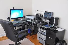 l shaped desk gaming setup. Simple Desk Stylish L Shaped Gaming Desk Ideas Within Setup For D
