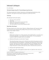 Science Projects Reports Sample Lab Report Cover Page Formal Title ...