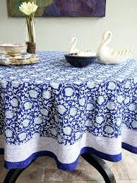 round fl tablecloth midnight lotus blue banquet plastic round fl tablecloth
