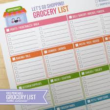 Printable Grocery Shopping List By Aisle Download Them Or Print