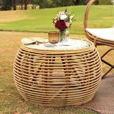 round rattan coffee table incredible outdoor com interior design 17