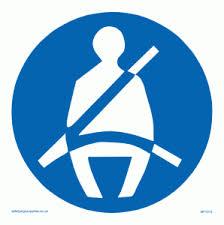 Seatbelts Must Be Worn Symbol Sign