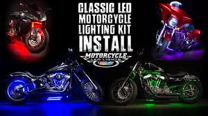 Where To Place Led Lights On Motorcycle Ledglow Classic Motorcycle Lighting Kit Install
