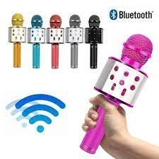 Profesyonel bluetooth kablosuz mikrofon hoparlör el mini mikrofon karaoke mikrofon  müzik çalar şarkı mikrofon indirim > mısc < Depo-Fiyat.today